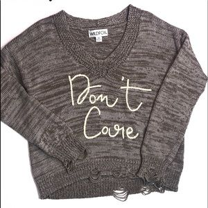Wildfox Don't Care Distressed Sweater